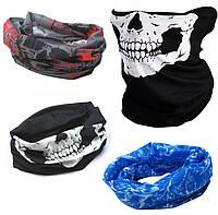 Набор маски-бафф, 3 штуки по цене одной 25х50см  (универсальный, бесшовный бафф 3 цвета)