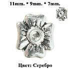 Бусина Шарм Бант, Металлическая Цвет: Серебро в стиле Пандора, Материалы для Изготовления Украшений, фото 4