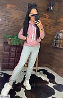 Женский спортивный костюм штаны брюки высокая посадка + толстовка