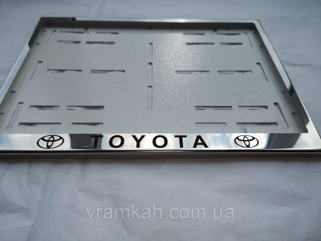 Номерная рамка для авто Toyota
