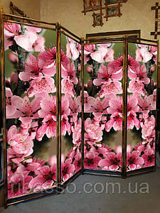"Ширма для салона любых размеров ""Цветы сакуры "" 170х200см."