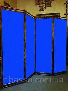 """Ширма в офис """"Сота """"синяя 170х200см"""