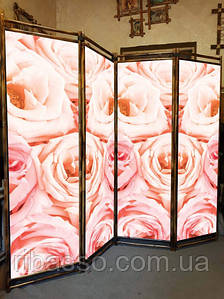 "Ширма в салон красоты ""Букет роз"" 170х200см"