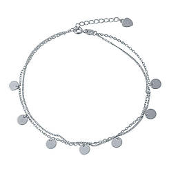 Серебряный браслет на ногу pSilverAlex без камней (2005698) 2326 размер