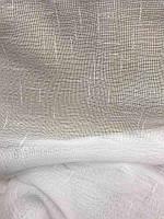 Лляна тюль на стрічці турецька ALBO 400x270 cm Біла (T-L-4), фото 2