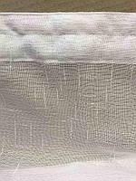 Лляна тюль на стрічці турецька ALBO 400x270 cm Біла (T-L-4), фото 3