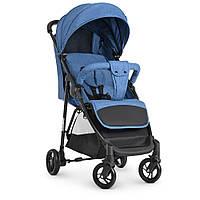 Детская прогулочная коляска книжка  для девочки Bambi M 4249 BLUE для  мальчика синяя