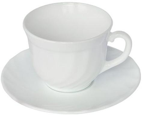 Набор чашек для чая Luminarc Trianon White 220мл на 6 персон, стеклокерамика