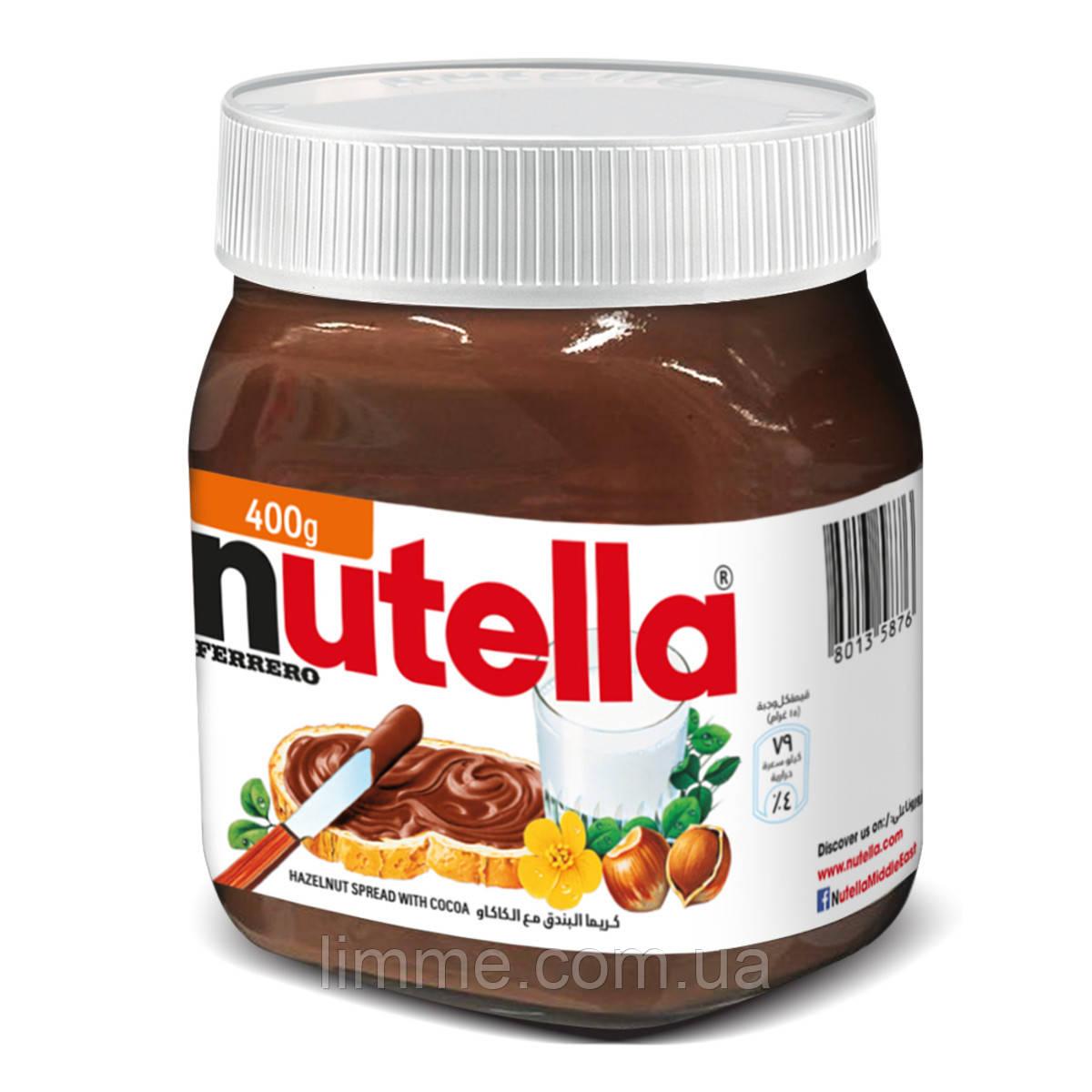 Шоколадно - горіхова паста Nutella 400 р.