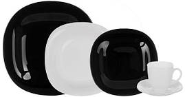 Столовый набор Luminarc Carine Black&White 30 предметов на 6 персон