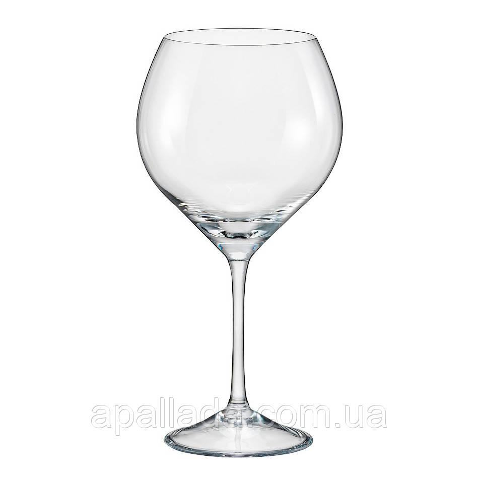 Набор бокалов для вина 650 мл BOHEMIA, 6 шт.