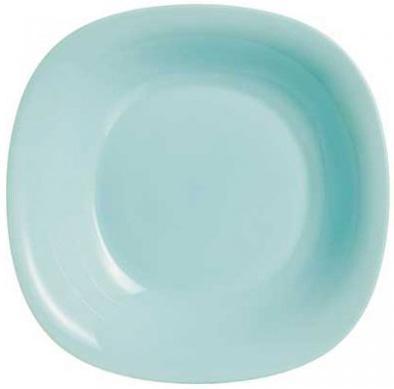 Набор 24 суповых тарелки Luminarc Carine Light Turquoise, квадратные 21см