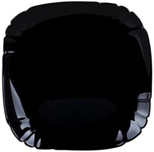 Набор 6 обеденных тарелок Luminarc Lotusia Black Ø25.5см, стеклокерамика