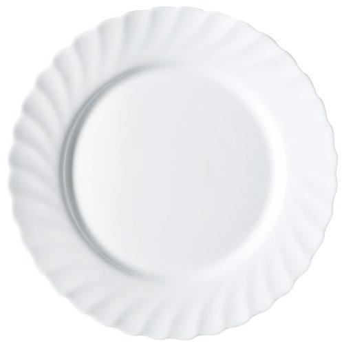 Набор 6 обеденных тарелок Luminarc Trianon White Ø24.5см, стеклокерамика