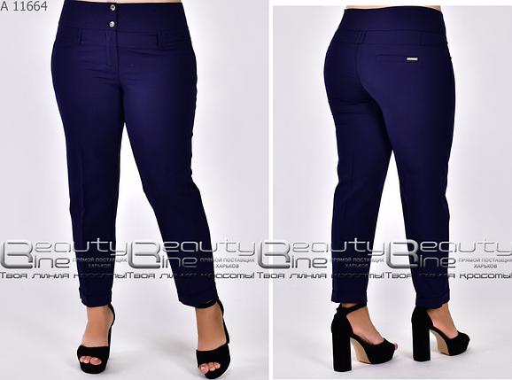 Літні брюки 7/8 батал Розміри: 48.50.52.54.56.58., фото 2