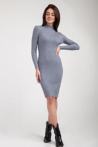 Платье FAMO Трикотажное Лиллиан серое S-M (8506)