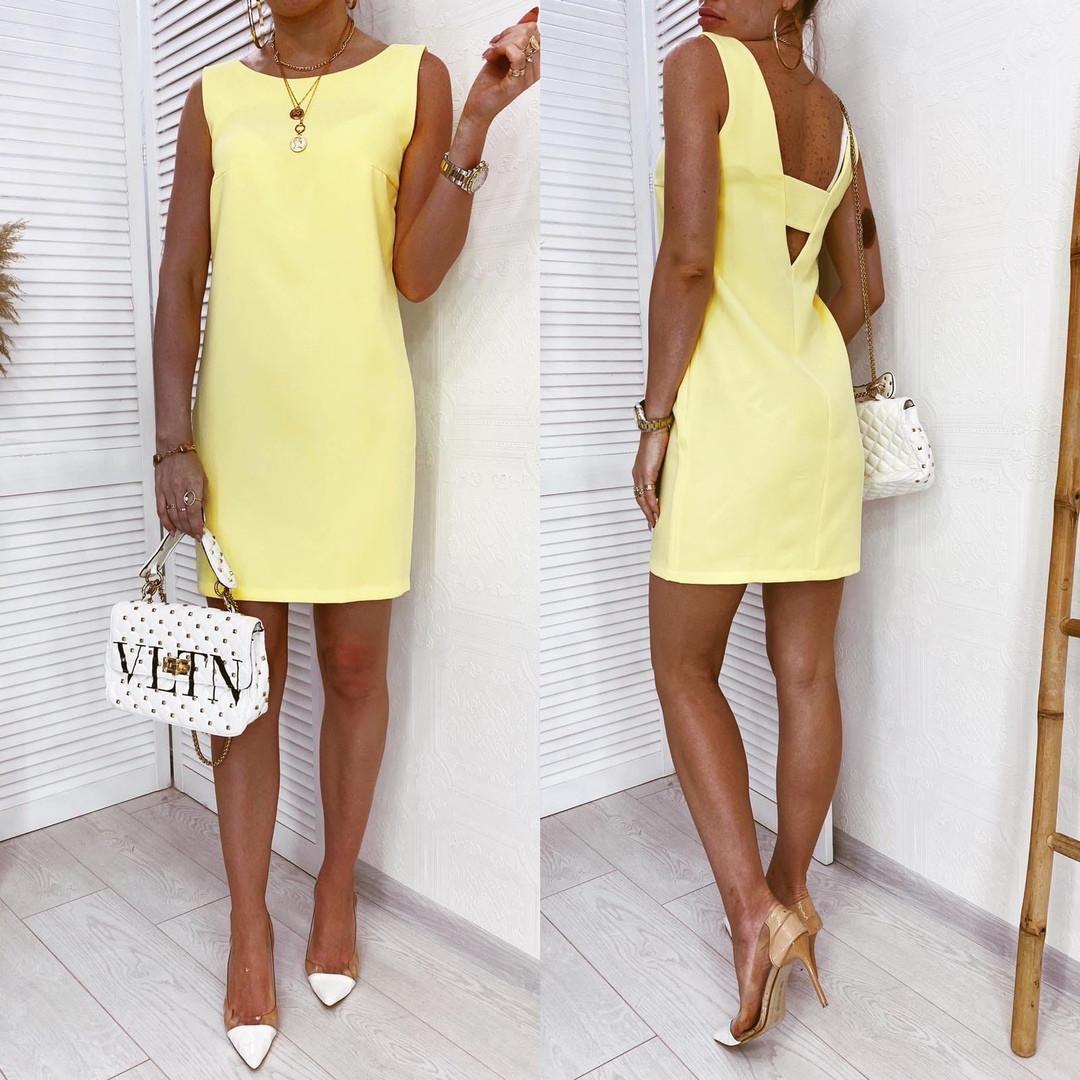 Женское платье Желтый