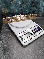 Кухонные весы бытовые для еды DT- 400 до 10кг Электронный помощник для взвешивания продуктов на кухне