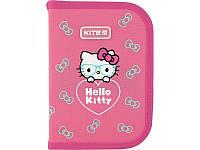 Пенал без наполнения Kite Education Hello Kitty  1 отделение, 2 отворота