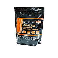 Сывороточный Протеин для набора массы рельефа 80% белка + ВСАА в составе, Германия 2 кг манго апельсин