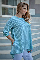 Блуза свободного кроя большого размера 50-52, 54-56, 58-60, 62-64