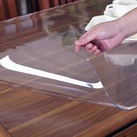 Прозрачная силиконовая скатерть на стол Soft Glass 1.0х2.7 м толщина 1.5 мм Мягкое стекло