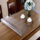 Прозрачная силиконовая скатерть на стол Soft Glass Защита для мебели 1.0х2.7 м Толщина 1.5 мм Мягкое стекло, фото 5
