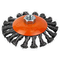 Щетка проволочная конусообразная Ø115мм М14×2мм (стальная витая) GRAD (9040115)