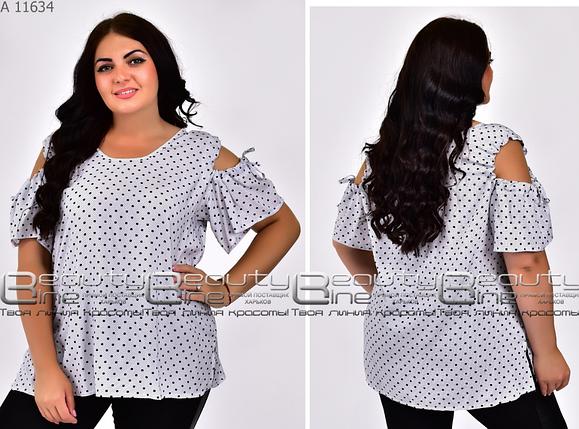 Блуза летняя коттон большого размера Размеры: 58.60.62., фото 2