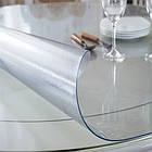 Прозрачная силиконовая скатерть на стол Soft Glass Защита для мебели 1.0х2.7 м Толщина 2 мм Мягкое стекло, фото 4