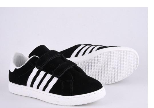 Кеды детские,кроссовки детские черные Violeta-Wonex 220-5-black-white