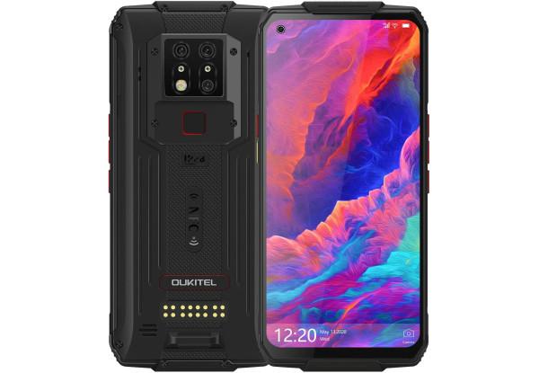 Смартфон защищенный с большим дисплеем и хорошей тройной камерой на 2 сим карты OUKITEL WP7 black 8/128 гб NFC