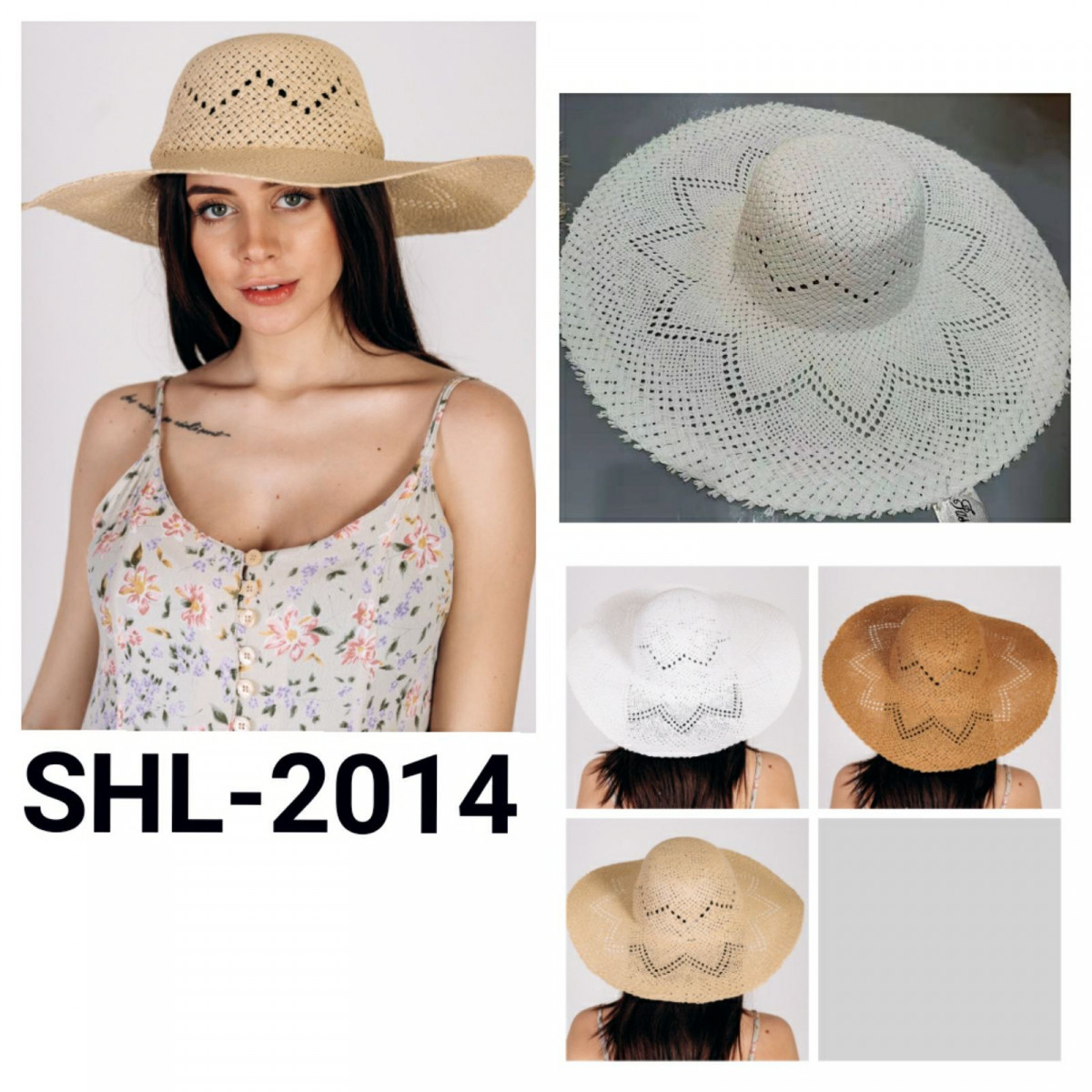 Шляпка широкополая Бетти оптом SHL 2014