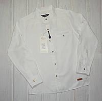 Белая рубашка для мальчика со стойкой Размеры 140 146 152