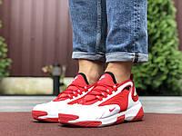 Мужские кроссовки Nike Zoom 2k красные с белым —  кожаная обувь в стиле Найк зум 2к демисезонные