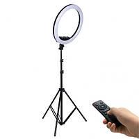 Профессиональная LED RING D 33 см AL-33 кольцевая светодиодная лампа для фото / визажиста / блогера / сало