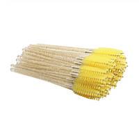 Расчески для ресницс блёстками (жёлтые)