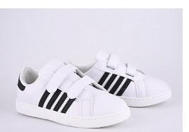 Кеды детские белые,кроссовки детские для мальчика Violeta-Wonex 220-5-white-black