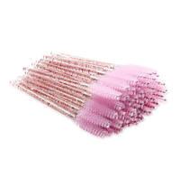 Расчески для ресниц с блёстками (розовые)