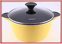 Кастрюля Fissman Rainbow 3.8л с керамическим антипригарным покрытием Алюминиевая кастрюля премиум класса