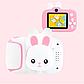 20Мп Дитячий цифровий міні фотоапарат Cartoon Camera X11 Зайчик Rabbit 20Мп, фото 3