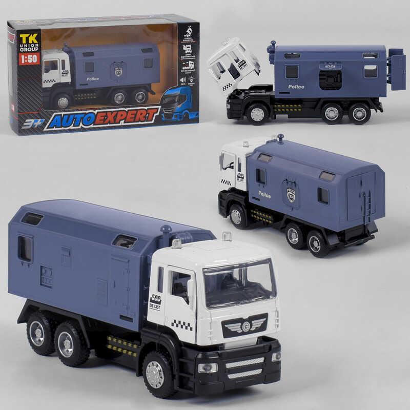 """Спецтехника металлопластик КТ-86033 (72/2) """"Auto Expert"""", инерция, свет, звук, открываются двери, в коробке"""