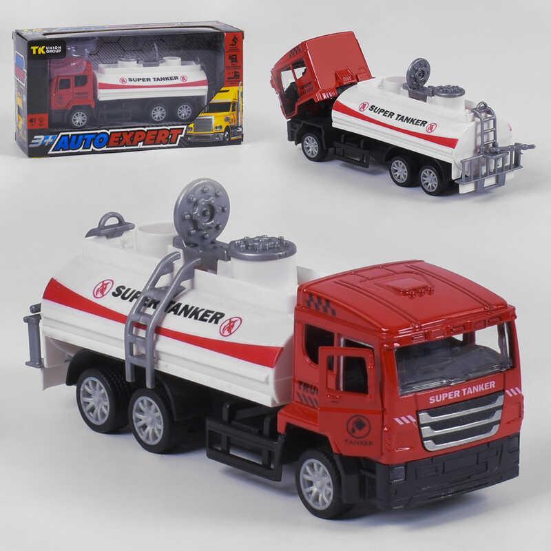 """Спецтехника металлопластиковая S - 0844 (96/2) """"Auto Expert"""", свет, звук,инерция, открываются двери, в коробке"""