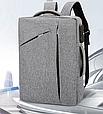 Сумка-рюкзак трасформер для ноутбука 15.6 дюймов, фото 6