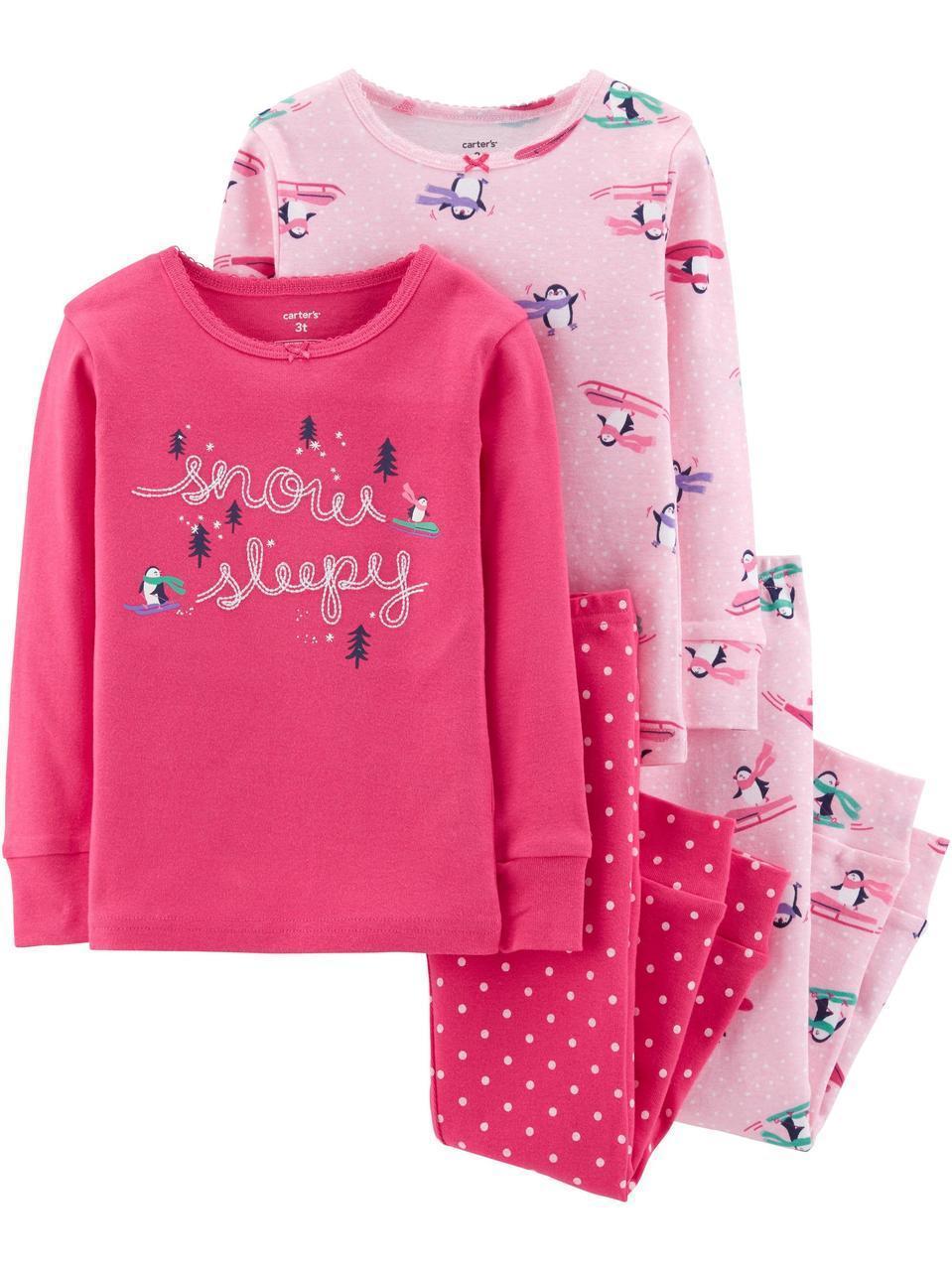 Пижама Картерс Carter's для девочки 2Т( 88- 93 см) розовая