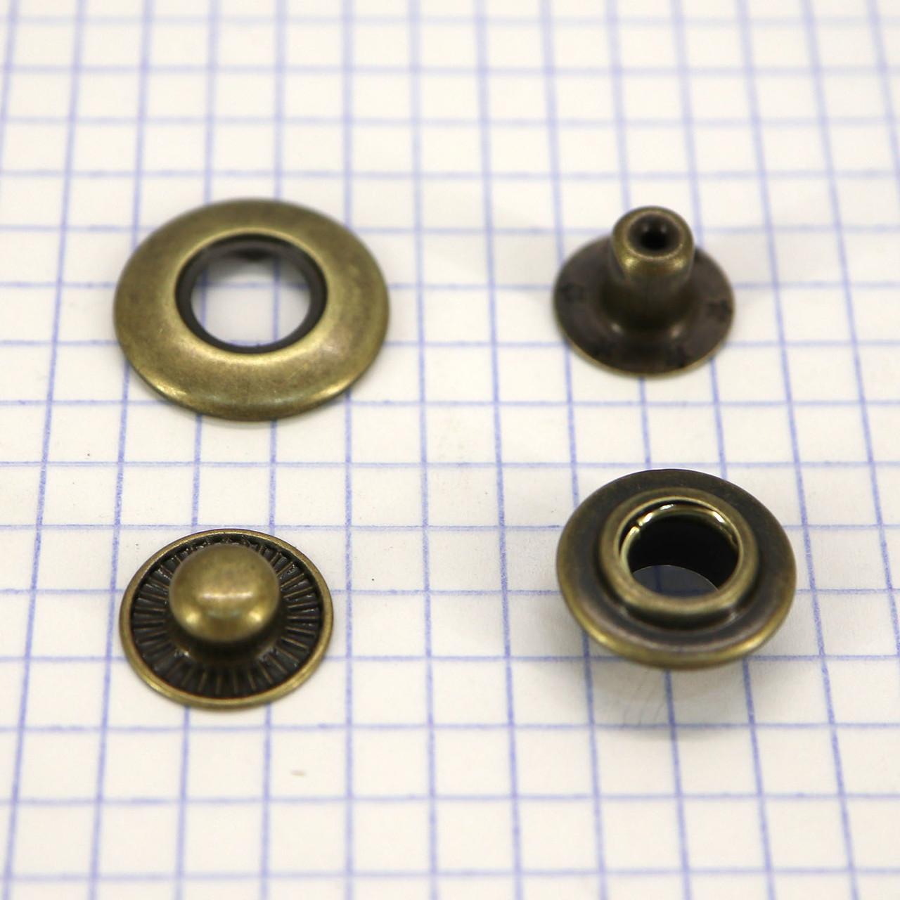 Кнопка с отверстием 20 мм антик a4235 (360 шт.)
