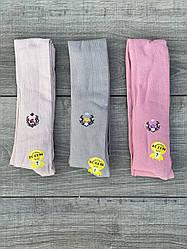 Дитячі колготи бавовна KBS квітки для дівчаток 7,9 рокі 6 шт. в уп. мікс 3х кольорів