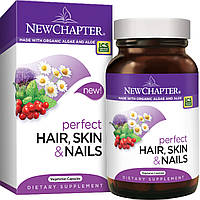 Идеальные волосы, кожа и ногти, New Chapter, 30 вегетарианских капсул