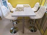 Барный стул B-45 белый искусственная кожа Vetro Mebel, фото 10