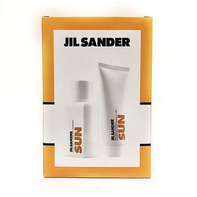 Подарунковий жіночий набір JIL SANDER Sun Woman туалетна вода 75ml + гель для душу 75ml, квітковий-фруктовий